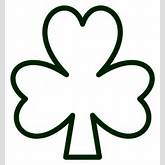 Saint Pattys Shamrock Black White Line Flower SVG Scalable Vector ...