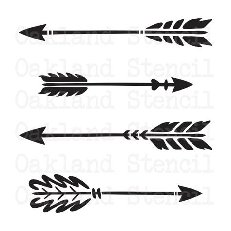 Arrow Stencil 4 Different For Painting Signs Wood Arrow Stencil Template