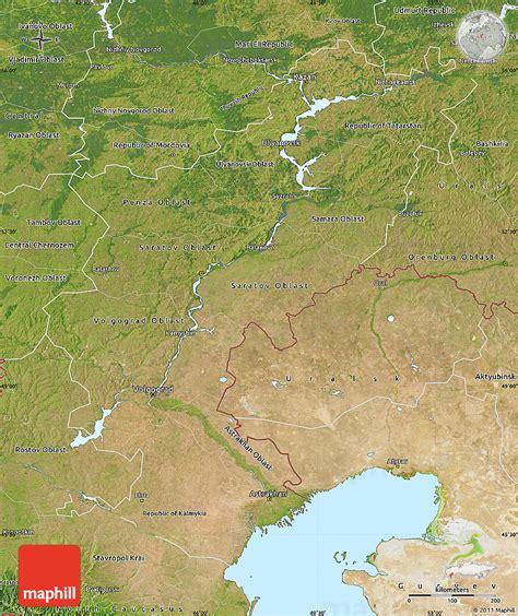 russia map satellite satellite map of volga