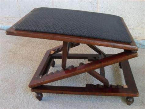 Adjustable Foot Stool by Mahogany And Upholstered Adjustable Foot Stool