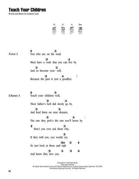 strumming pattern young volcanoes teach your children sheet music by crosby stills nash