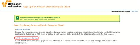 web services management console preparing your cloud environment for automated testing