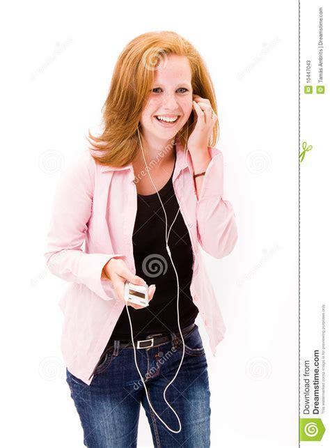 beautiful in white female version mp3 download tenn girl with mp3 player stock photos image 10447043