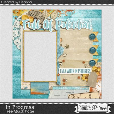 Frugal Scrapbooking 2 9 by Free In Progress Page Freebie By Deanna From Connie