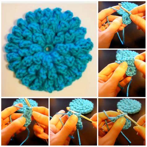 fiori all uncinetto come si fanno fiore con popcorn stitch tutorial