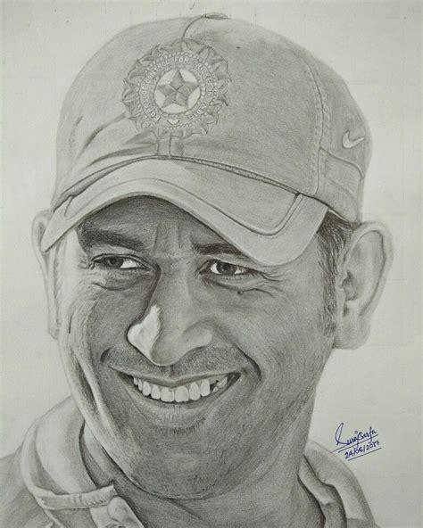 M S Dhoni Sketches by Portrait Of Mahi Ms Dhoni By Me Suraj Barfa