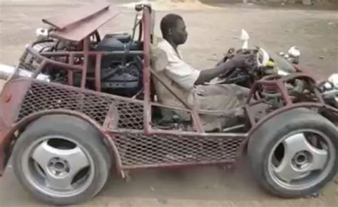renovating a cer african man built a car out of scraps he found laying