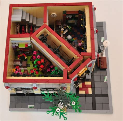 lego haus bauen lego 174 moc modular wine and flower shop