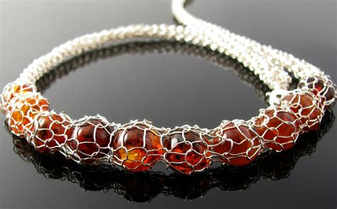 how to make wire crochet jewelry wire crochet and knit necklace with faux by catswire