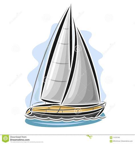 cartoon sailboat vector vector illustration of cartoon sailing yacht cartoon