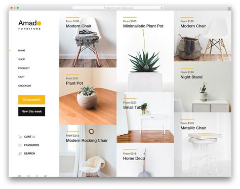 25 Free Interior Design Furniture Website Templates With Contemporary Design Furniture Website Templates Free