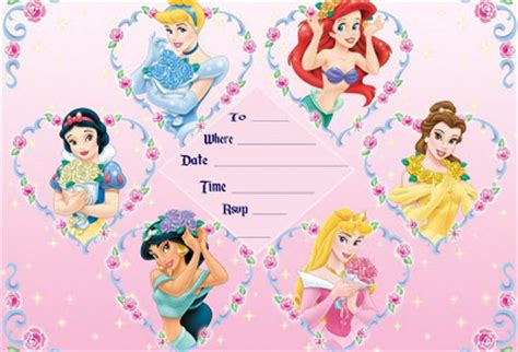 printable birthday invitations disney princess free disney princesses birthday invitation