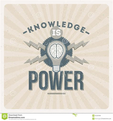 typography knowledge knowledge is power stock vector image 42703180