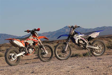 Yamaha Ktm This Or That Ktm 250 Xc F Vs Yamaha Yz250fx Dirt Bike Test