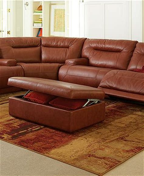 Ricardo Leather Reclining Sofa Ricardo Leather Sectional Living Room Furniture Collection Power Reclining Macy S In Black
