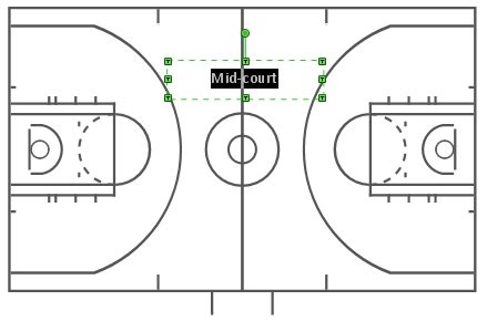 basketball court design template create basketball court diagram conceptdraw helpdesk