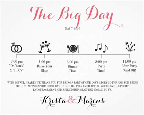 wedding day timeline template word 25 best ideas about wedding itinerary template on