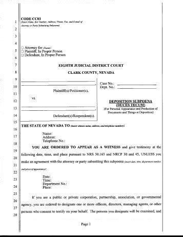 subpoena duces tecum template subpoena domestic issued by attorney the clark