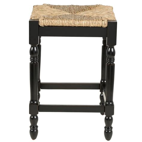 Painted Counter Stools by Counter Stool Solid Wood Painted Black Finish Handwoven