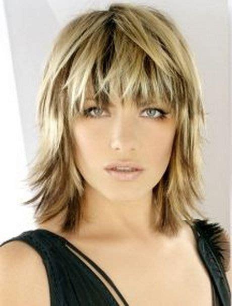 choppy bob with bangs for black women medium choppy haircuts blonde medium length choppy shag