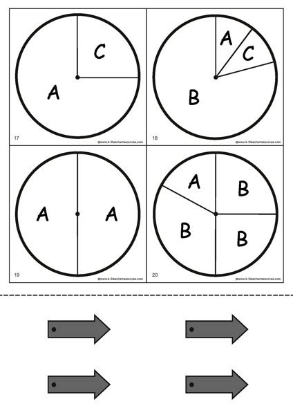 Letter Probability probability spinners k 3 resources