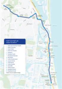 Light Link Rail Map G Link Gold Coast Light Rail Gold Coast Australia