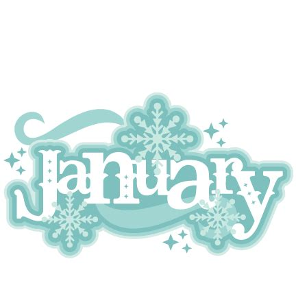 january clipart january title svg scrapbook cut file clipart files