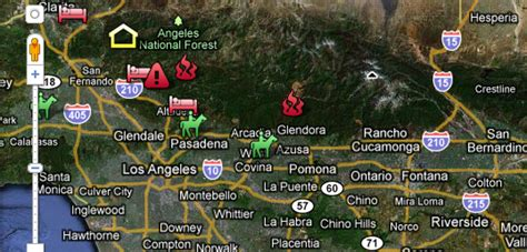 southern california wildfires map interactive wildfire maps southern california fires