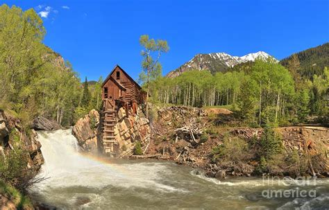 Colorado Home Decor by Crystal Colorado Dead Horse Mill Photograph By Adam Jewell