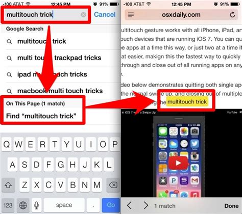 Find Text Search For Text On A Web Page In Safari With Ios 8 And Ios 7