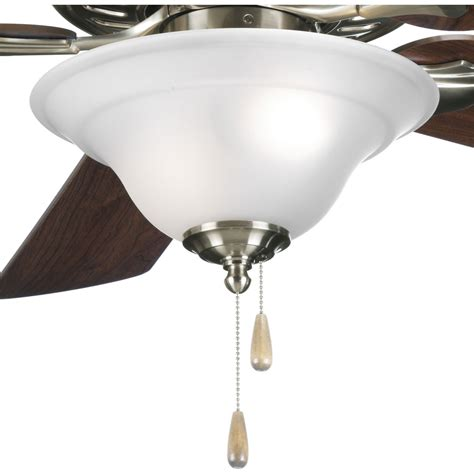 progress lighting p2628 09 trinity ceiling fan light kit