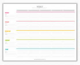 Printable Lesson Plan Template by My Strawberry Baby Free Printable Weekly Lesson Plan Template