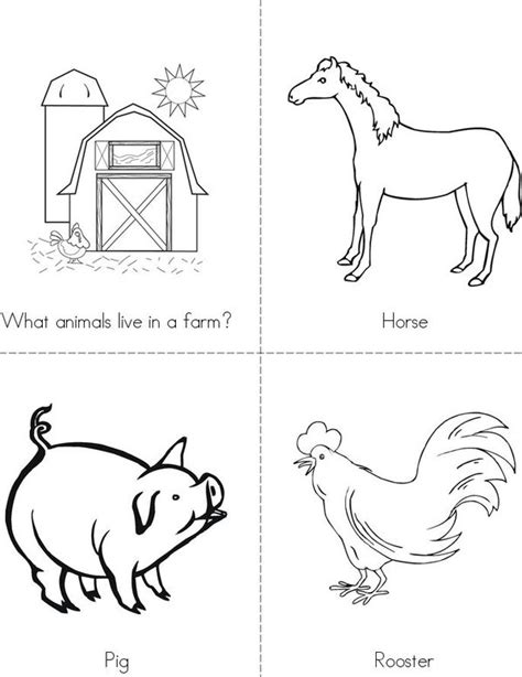 6 best images of printable farm animal cutouts farm