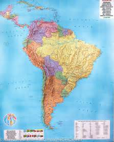 south america wall map carte murale papier am 233 rique du sud 97 x 123 5 cm