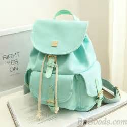 mint colored backpacks sweet canvas college rucksack mint green color
