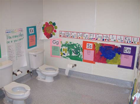classroom bathroom learning and teaching with preschoolers print rich