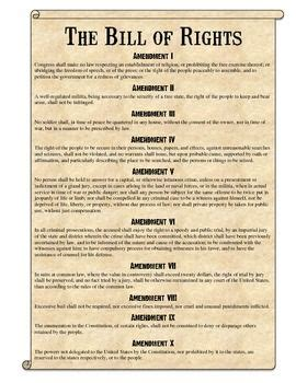 bill of rights section 1 explanation a well back to and student centered resources on pinterest