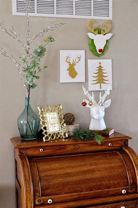 diy christmas reindeer wall mount