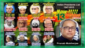 indian presidents list 1947 2015 presidents of india list