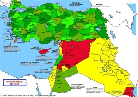 middle east map in 1920 hisatlas m orient 1935