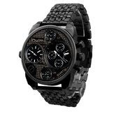 Bariho Dual Time Black alike ak1388 sport black dual time rubber