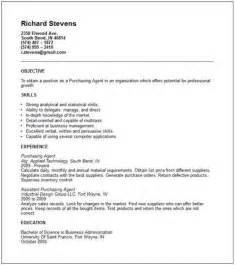 Resume Keyword Finder by Purchasing Agent Resume Objective