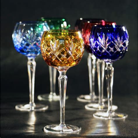Colored Wine Glasses Set Of Colored Wine Glasses Consist Of 6 Pieces