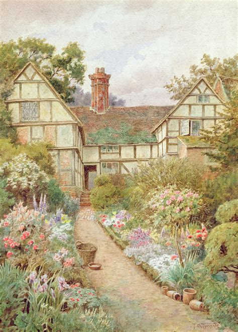Cottage Garden Paintings by Cottage Garden By Nicholson Tyndale