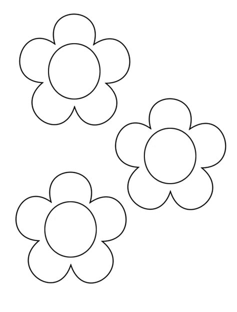 easy flower template early play templates mothers day flower templates and