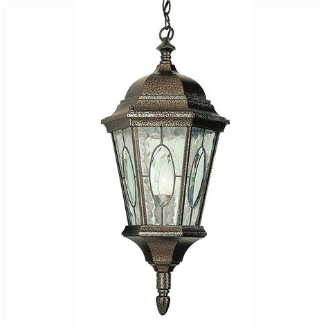 Bel Air Lighting Cameo 1 Light Outdoor Hanging Brown Lights Lanterns