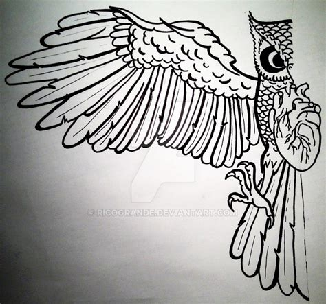 owl tattoo outline simple owl outline