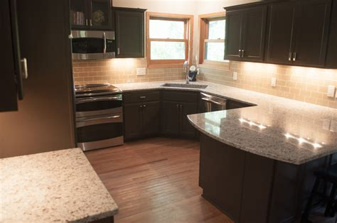 granite kitchen cabinets after from golden oak cabinets dream home pinterest