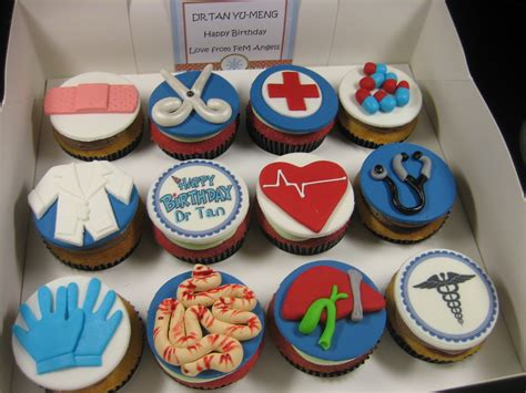 Doctor Themed Cupcakes Margaretcookies Doctor Themed Cupcakes