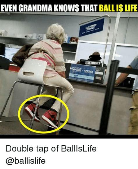 grandma   ball  life double tap
